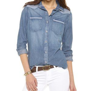 AG Jeans Denim Chambray Shirt Western Wesley Tahoe